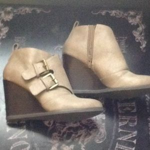 Wedge Ankle Booties